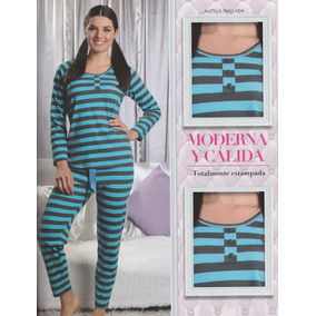 Pijama De Primavera Con Pantalón Rayado
