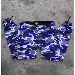 Cargo Camo Pants Bufa Morado