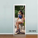 Adesivo Porta Decorativo Paula Fernandes (cod.pop75)