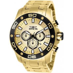 Relógio Invicta Pro Diver 26079 Original Dourado B. Ouro 18k
