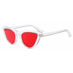 3beaf4439a5fc Óculos De Sol Feminino Retrô Uv400 Armação Branca - Óculos no ...