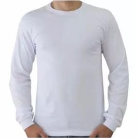 Camisetas Malha Fria Manga Longa Excelente P estampas 01 Un. 155efb23996f3