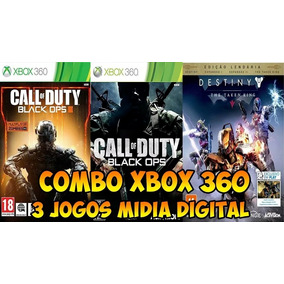 Black Ops 3 + Black Ops 1 + Destiny Completo+dlc Xbox 360 !