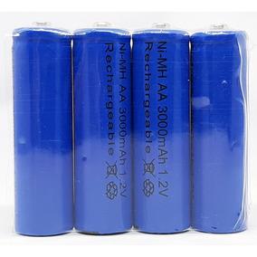 4x Batería Recargable Aa Nimh 3000 Mha Blister Con 4 Azules