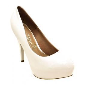 291ac71a9 Sapato Meia Pata Branco Vizzano Sapatos - Sapatos no Mercado Livre ...