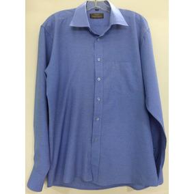 Camisa Social Azul Giorgio Armani 2bae846b099c2