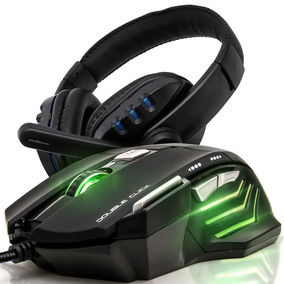 Kit Mouse Gamer X7 3200dpi + Fone Ouvido Headset Usb Pc Mic