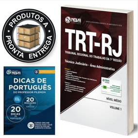 Apostila Trt Rj (1ª Região) 2018 Técnico Judiciário Área Adm