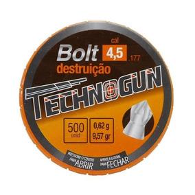 Chumbinho Technogun Bolt Destruição 4.5mm - 500 Unidades