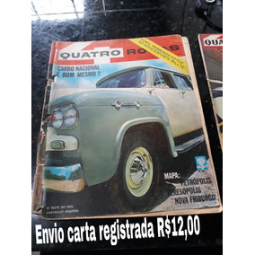 Revista Quatro Rodas 34 Maio 63 Simca Rural Chevrolet Brasil
