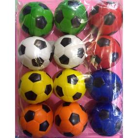 Pelota Antiestres Futbol Soccer Esponja Lote 12 Piezas 575ecfef7bd7d