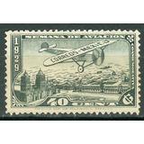 Sc C27 Año 1929 Avion Sobre La Plaza Mexico