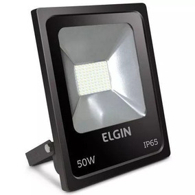 Refletor De Led 50w 6400k Preto Bi-volt Elgin 1ª Linha!! Ip6