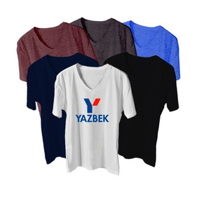 Playeras Yazbek Cuello V Dama O Caballero 7 Colores Disp!!!