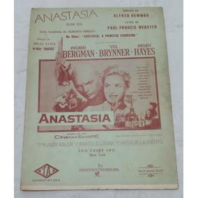 Partitura Antiga - Anastasia - Alfred Newman - Paul Fancis