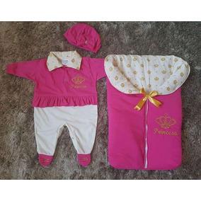 Kit Saida De Maternidade Menina Porta Bebê Pink