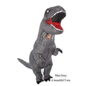 Disfraz Inflable Dinosaurio Jurassic World Gris Goprime