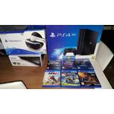 Ps4 Pro 1tb 4k + Tres Juegos 2 Mando + Realidad Virtual..