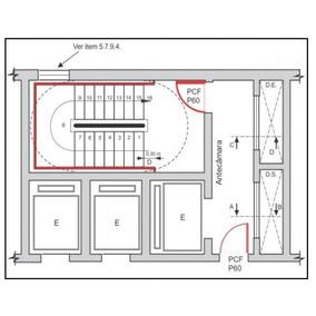 Projeto De Prev. Ao Incêndio Com Escada A Prova De Fumaça