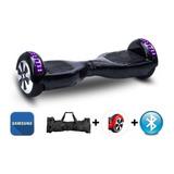 Skate Elétrico Hoverboard Samsung + Bolsa + Leds + Bluetooth