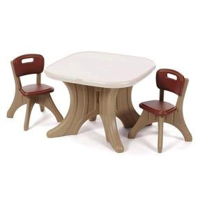 Brinquedo Mesa Para Criança Parisiense Com 2 Cadeiras Step 2