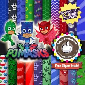 Kits Papeles Digitales Diseño Digital Pj Mask