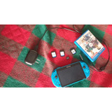 Ps Vita Slim (blue) Con 3 Juegos Y Memoria De 4gb