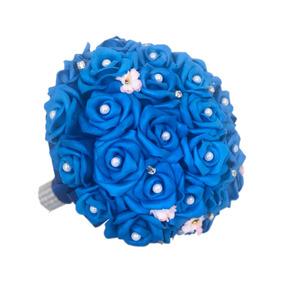 Buquê Para Noivas Flores Casamentos Azul Royal Casamento