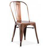 8 X Cadeiras Tolix - Iron - Industrial - Bronze Antigo