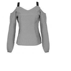 Blusa Rinna Bruni Negro/blanco 109153.. Outlet/saldos Mchn