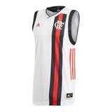Camisa Flamengo Regata Basquete Branca Original - Footlet