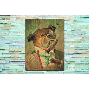 8921b62760 Placa Decorativa Cachorro De Terno E Gravata Fumando - 30 X