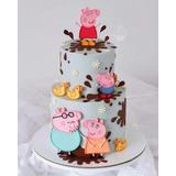 Bolo Fake Cenográfico 3d Peppa Pig Festas Aniversários