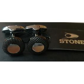 Gemelos Stone Acero Caballero Stg004 Agente Oficial