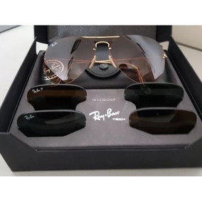 5ffdacb9f0c75 Rayban Top Tech Flip Out Rb3460 + 3 Lentes + Cx Orga + Estoj