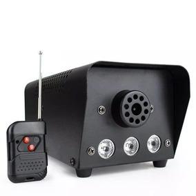 Maquina De Fumaça 400w Rgb 3 Leds Efeito Fumaça E Luz