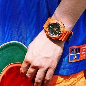 Relógio G-shock Ga-100l-4a (laranja)