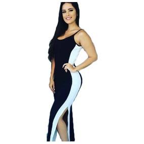 Vestido Feminino Alcinha Canelado Justo Tubinho Básico R,84b
