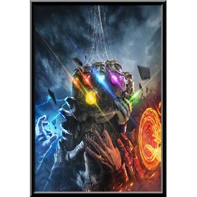 Quadro Poster Moldura Luva Thanos Filme Vingadores Avengers