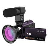 Andoer 4k 1080p 48mp Wifi Cmara De Video Digital Grabadora