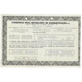 1979 Ação Preferencial Nominativa Consórcio Real Brasileiro