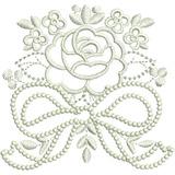 Matriz Bordado Computadorizado Coleção De Rosas Brancas 003