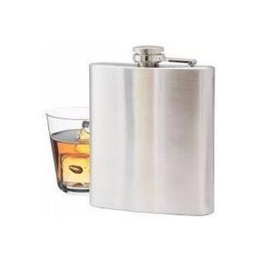 Cantil Bolso Inox Whisky Vodka 237ml Vintage Santa Catarina