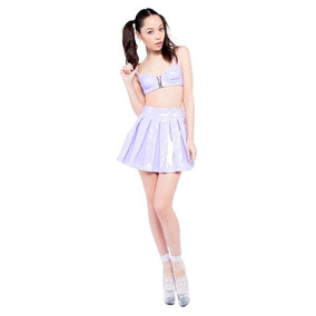 Falda Vinyl Lip Service Lavender Princess 38-049 Killstar