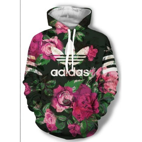 94557d83421 Blusa Agasalho Moletom adidas Marcas Floral Unissex-frete G