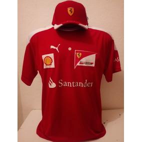 Kit Camisacereca + Boné Santander Ferrari Vermelo Barato 7dadfcd092a