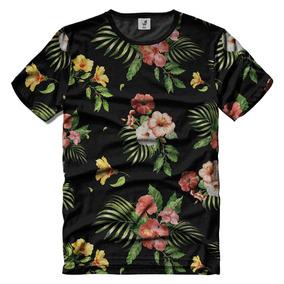 Camiseta Florida Masculina, Camisetas Estampada Floral