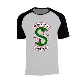 681f5976c2 Camisa Raglan Riverdale Serpentes Simbolo Original Unissex !