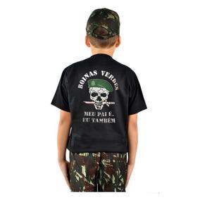 Camiseta Infantil Boinas Verdes Tamanhos 6 Ao 14 5703df0d139