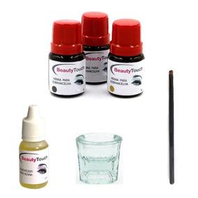 3 Hennas Beauty Touch + Removedor + Dappen + Brinde